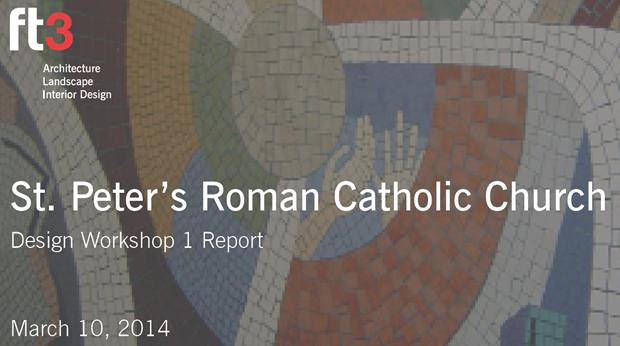 St. peter's roman catholic church design workshop 1 report