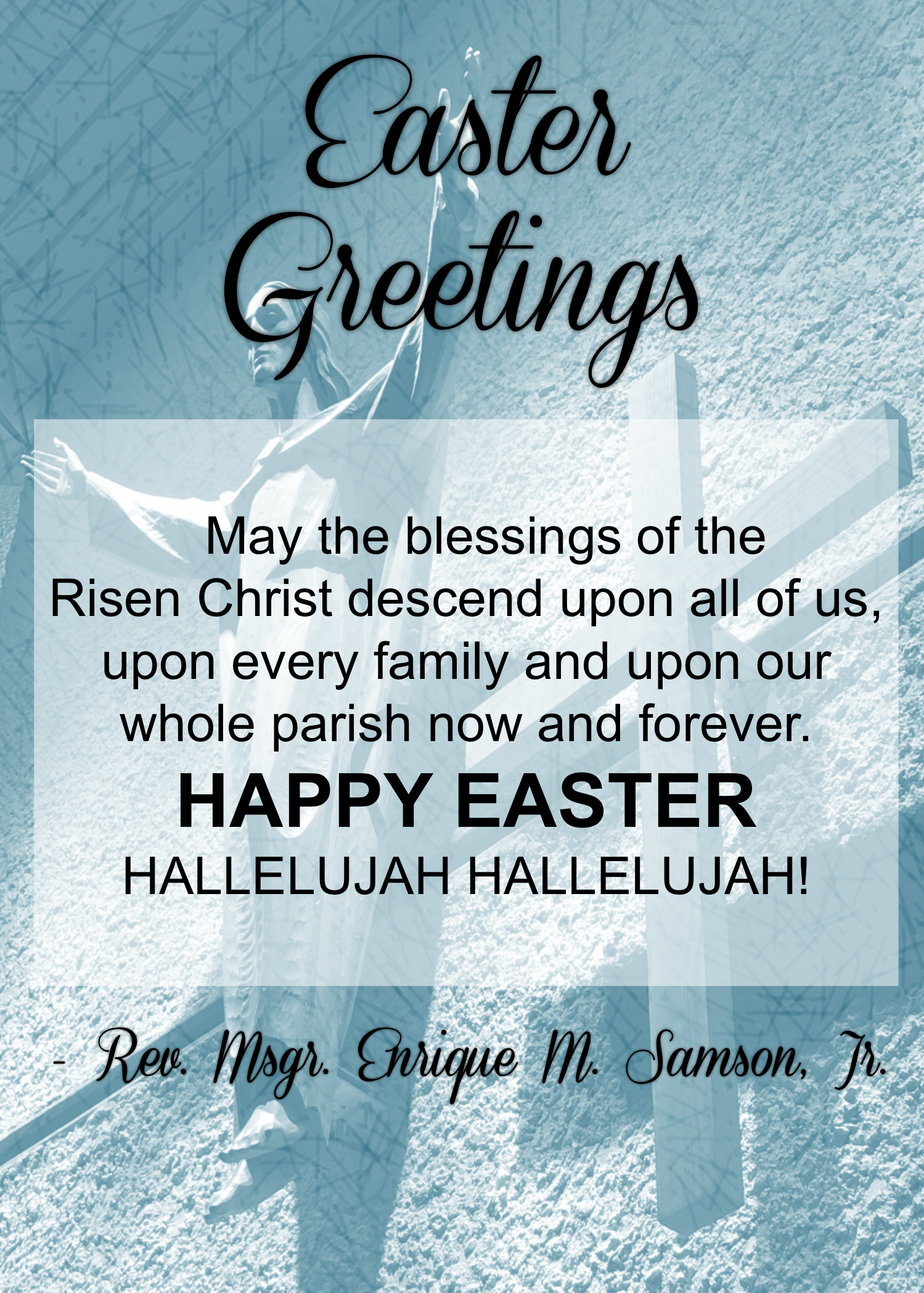 Message from the parish priest st peters roman catholic church easter greetings posted march 30 2016 m4hsunfo